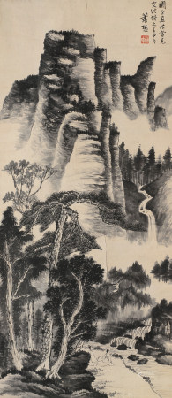 蕭謙中 山水圖