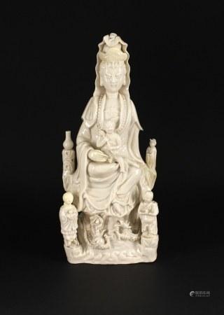 清德化白瓷送子观音塑像