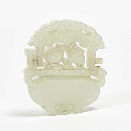 A White Jade Plaque, 19th Century