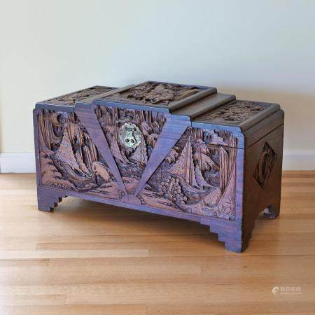 CHINESE CARVED STORAGE CHEST