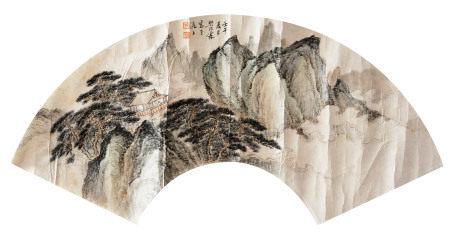 近代 樊浩霖 山水扇面