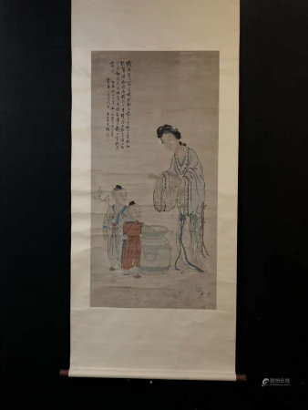 A CHINESE FIGURES PAINTING