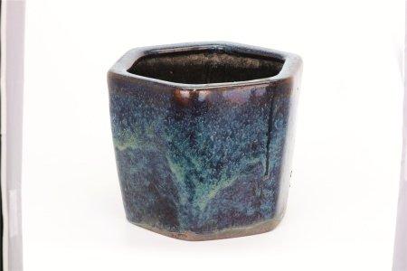 葛明祥造海鼠釉植木鉢(大)