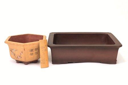 植木鉢2点+茶則1点