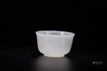 CHINESE WHITE JADE CUP