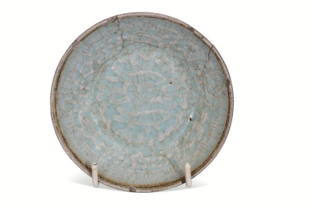 Small Chinese Southern Song Dynasty dish decorated to the interior with fish amongst seaweed or
