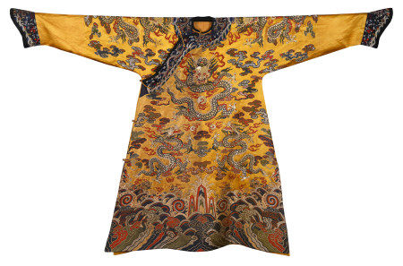 CHINESE EMBROIDERY NINE DRAGONS TMPERIAL ROBE