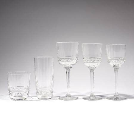 HERMES PARISUn ensemble de cinq verres en cristal, collection Iskender, comprenant: - un verre