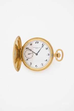 PATEK PHILIPPE Réf : 821N°311153Montre de poche en or jaune 18k (750) de type savonnette, cadra