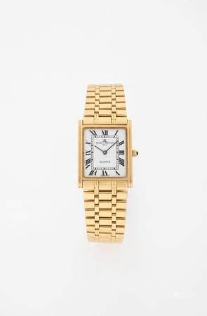 BAUME ET MERCIER TANK VERS 1990N° 17305 - 1445065Montre bracelet pour femme en or jaune 18k (75