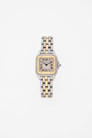 CARTIER PANTHERE VERS 1990Réf : 1120N° 25516800Montre bracelet pour femme en or 18k (750) et ac