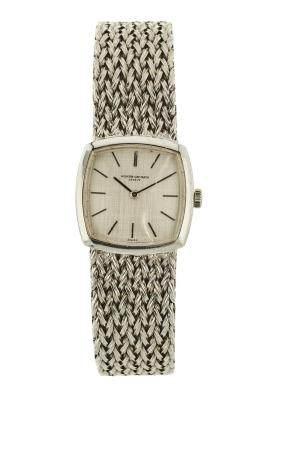 VACHERON CONSTANTIN VERS 1960Réf : 7288N° 432052Montre bracelet pour femme en or blanc 18k (750