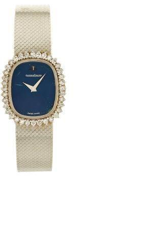 JAEGER LECOULTRE VERS 1970N° 1632722 - 1473129Montre bracelet pour femme en or blanc 18k (750),
