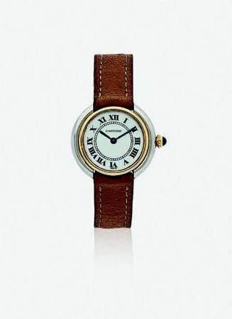 CARTIER VENDÔME VERS 1970N° 671130347Montre bracelet pour femme en deux tons d'or 18k (750), ca