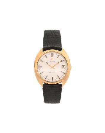 OMEGA VERS 1970N° 13290016Montre bracelet pour homme en or jaune 18k (750), cadran blanc, index