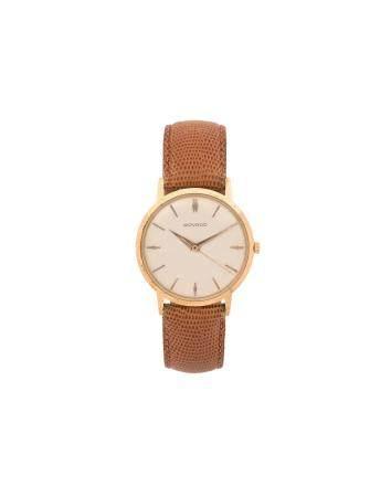 MOVADO VERS 1960N° 365073Montre bracelet pour homme en or jaune 18k (750), cadran blanc, index