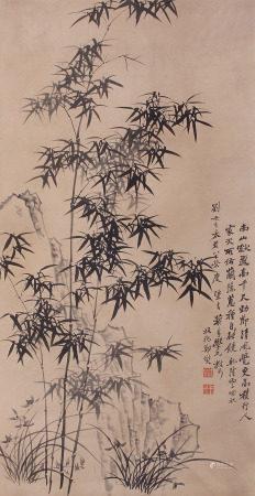 A Chinese Scroll Painting By Zheng Banqiao