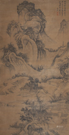 A Chinese Scroll Painting By Shen Zhou