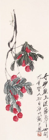A Chinese Scroll Painting Qi Baishi