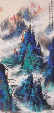 A Chinese Painting By Liu Haisu