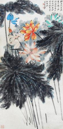 A Chinese Painting By Zhang Daqian