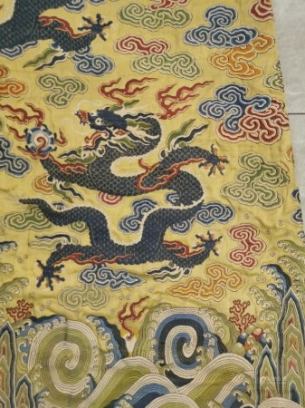 清  织锦龙袍