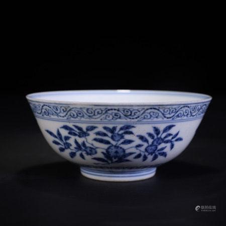 青花龙纹三多纹碗