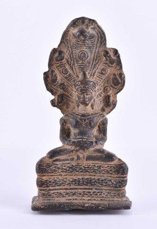Naga Buddha Nepal / Tibet Frühe Qing PeriodeBronze, fein ziseliert, H: 9,2 cm,Provenienz: Sammlung