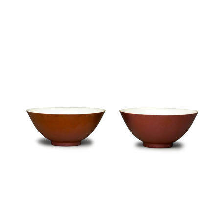 Two copper-red bowls  Guangxu marks and of the period (2)