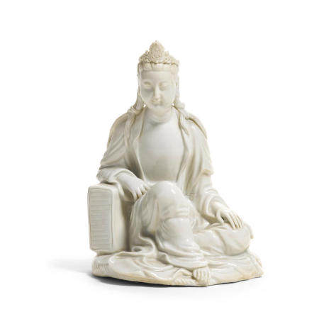 A seated Dehua figure of Guanyin Republic Period