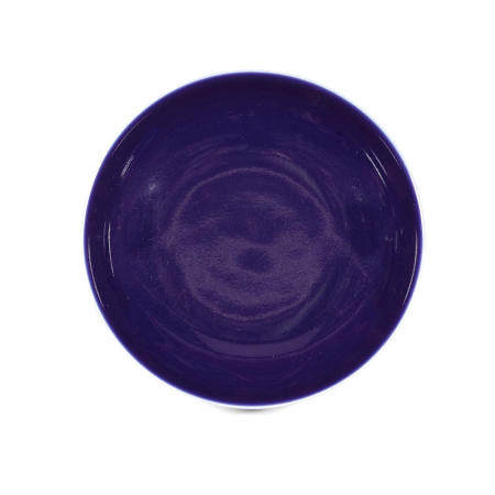 A BLUE-GLAZED DISH Qianlong mark and of the period Qianlong sealmark and of the period