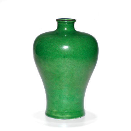 An apple green glazed vase  Republic Period