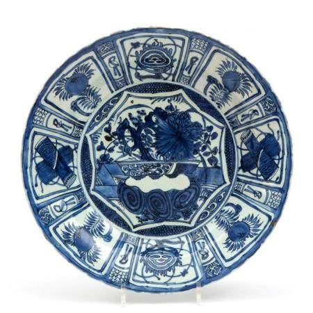 A large Kraak blue and white plate