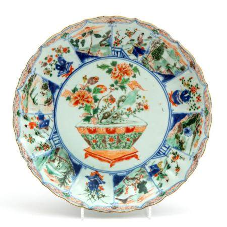 A large famille verte plate
