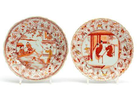 "Two ""milk and blood"" plates with figures"