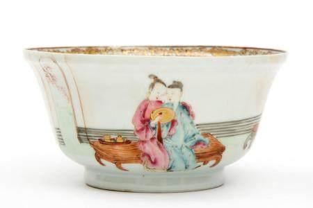 A semi-eggshell porcelain famille rose bowl