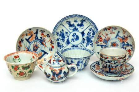 A small group of Chinese tea wares