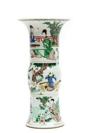 A gu form famille verte vase