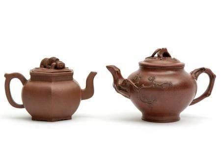 Two Yixing stoneware teapots