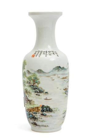 A Republic period landscape pattern vase