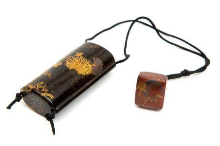 A Japanese lacquer inro