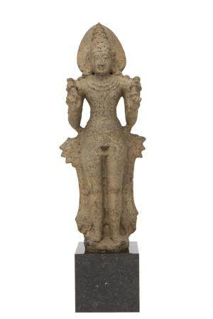 A granite figure of Surya