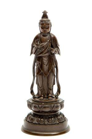 A Japanese bronze figure of Sho-Kannon