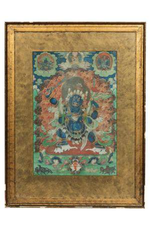 A thangka depicting Vajrabhairava