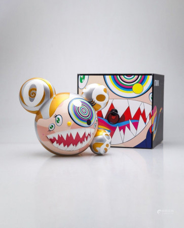 TAKASHI MURAKAMI  Mr. Dob Figure (gold version)  Signed and from an edition of 250   MEDIUM: Vinyl