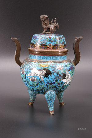 Perfume burner in cloisonne china 19th