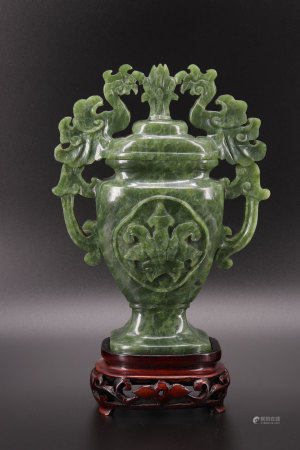 China green jade vase republic