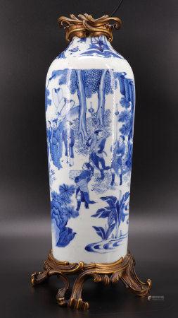 17th century blue white china porcelain vase