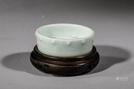 Fine coupelle circulaire à paroi droite en porcelaine