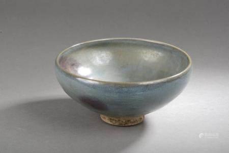 Coupe Jun de forme lianzi en grès porcelaine